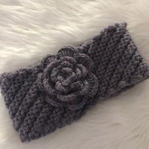 Crochet Ear/Head Warmer With Rosette